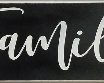 Family - Rustic Sign