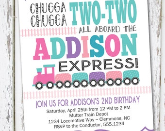 Choo Choo Train Invite