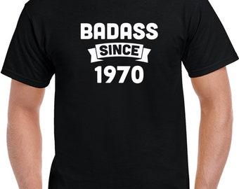 Birthday Black Badass Since 1970 T Shirt 4xlarge,  5xlarge, And 6xlarge