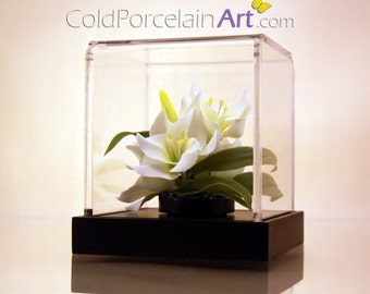 White Lilies - Cold Porcelain Art - Made to Order