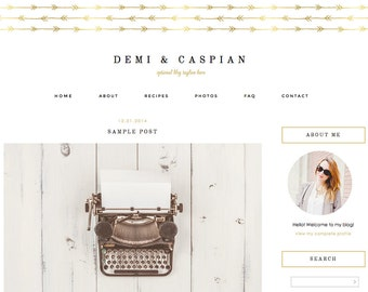 """Blogger Template, Blog Template - """"Demi 