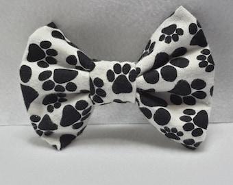 Dalmatian-paws hair bows,fabric dalmatian bows,hair bows