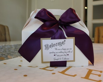 Out of Town/Guest Welcome Box Tags - Custom