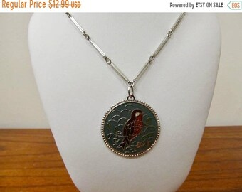 On Sale SARAH COVENTRY Vintage Enameled Bird Necklace Item K # 1727