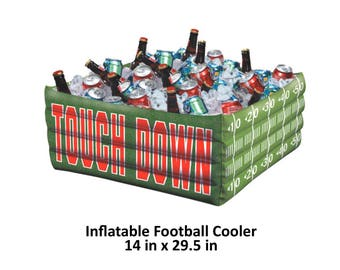 football party inflatable buffet cooler, touch down, graduation decorations, blow up drink station, table decor, tail gate, sports, fun