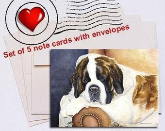Dad's Chair, Saint Bernard Note Card Set