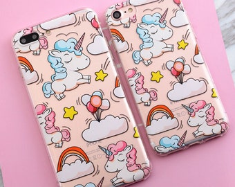 1 x Colourful Unicorn Soft TPU Phone Case for Iphone 6 6S