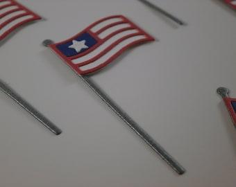 Mini American Flag Die Cut (10)