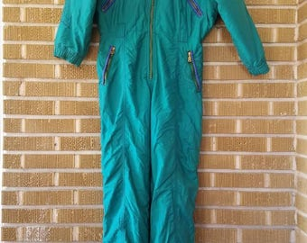 90's jewel tone ski suit