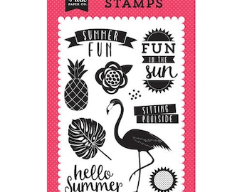 Echo Park - Summer Fun Collection - Clear Acrylic Stamps - Fun in the Sun