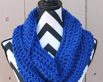 Ready to Ship Bright Blue Infinity Scarf