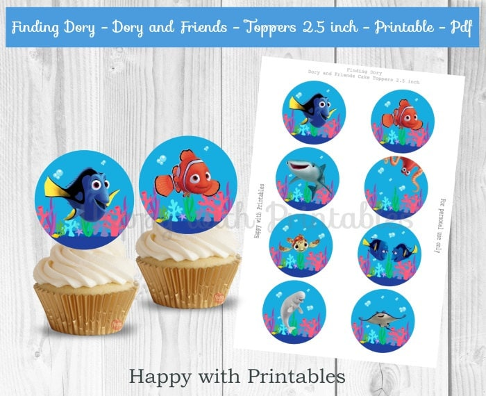 Finding Dory Cupcake Toppers Dory Cupcake Toppers Finding Dory