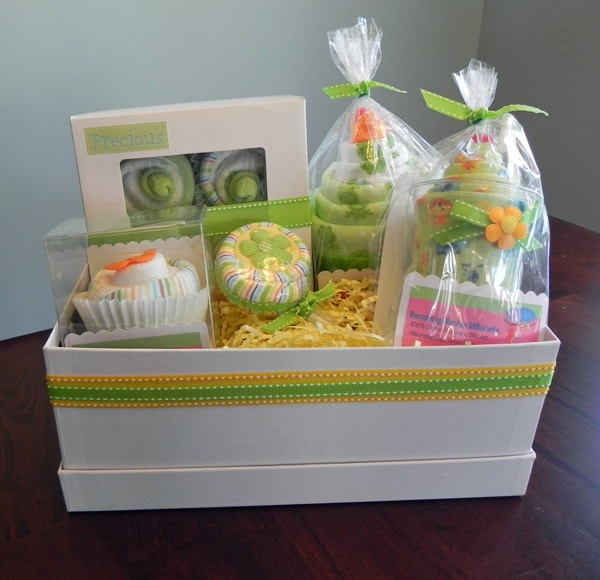 Babybinkz gift basket unique baby shower gift or centerpiece zoom negle Image collections