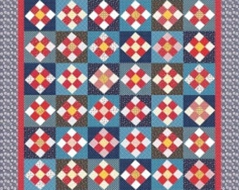 A Stitch in Time Quilt Pattern by Amy Smart for Riley Blake Designs