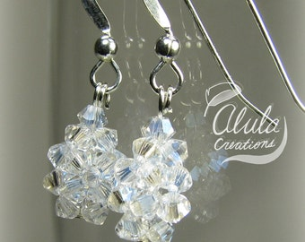Crystal Dewdrops Earrings, Swarovski Crystal Earrings, Crystal Teardrop Earrings, Dangle Earrings, Party Jewelry, Gift for Her, Dewdrop E003