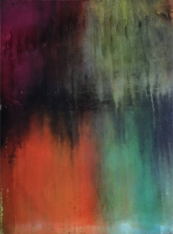 """Original Alcohol Ink Abstract Painting: """"Sacred Sections"""" (11"""" X 14"""")"""