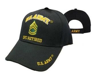US ARMY SFC Retired Cap