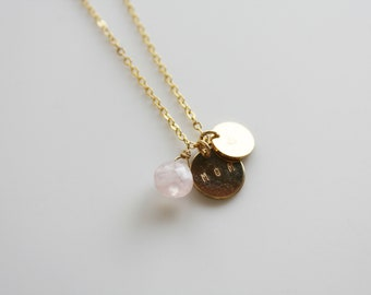 Mom gift necklace/goldfilled