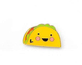 JUNK FOOD   Cute Taco Enamel Lapel Pin