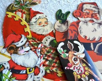 Vintage Christmas Ephemera Die Cuts and Trims Lot