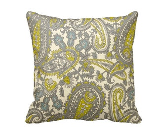 SALE | 30% OFF: Paisley Pillow Cover Decorative Pillow for Couch Throw Pillow Green Pillow Euro Pillow Henna Pillow Chartreuse Pillow