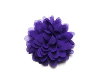 Purple Chiffon Chrysanthemum Hair Flower Clip