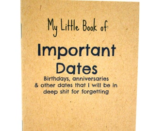 My Little Book of: Important Dates