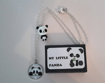 Panda necklace and gift box