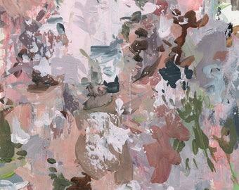 Winter Garden . original abstract  painting