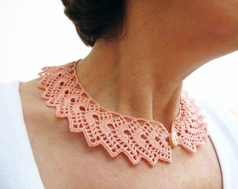 İnstant Download, Crochet Collar Pattern, Tutorial  Crochet Peter Pan Collar Pattern