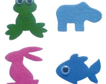 Set of adhesive felt ° animals