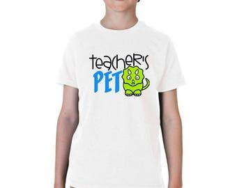 Teacher's Pet Shirt, Preschool Tee, Pre K Boys, PreK Shirt, Back To School Shirt, First Day Of School, 1st Day Of School,First Day of Pre-K