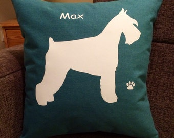 Personalised Schnauzer Dog Cushion