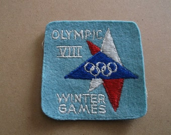 1960 Olympic VIII Winter Games Patch