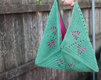 Pattern Crochet Bag - Fern Gully - pdf instant download