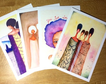 Special Offer: Buy 1 A4 African American Artwork Print and Get Another for Half Price