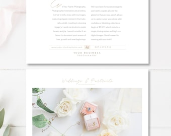Flyer Design Template for Photographers & Wedding Planners, Photography Templates, INSTANT DOWNLOAD!