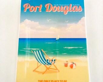 Port Douglas Four Mile Beach Vintage Wall Tile