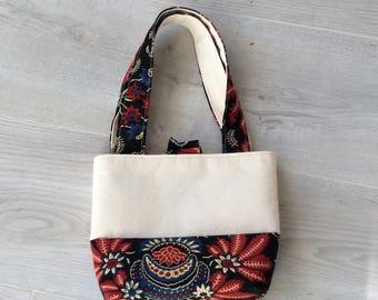 Tote bag, purse, mini tote bag, pattern small bag, tote bag, mini tote bag