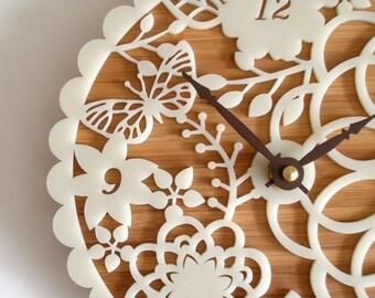 Decorative Wall Clock - Floral Kirie 01