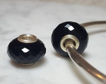 Onyx Gemstone European Bead