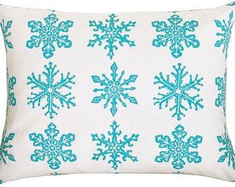 SALE snowflake sham accent travel pillow