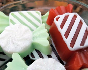 Holiday Candy Soap - Christmas Candy - Holiday soap - Stocking Stuffer - fun soap