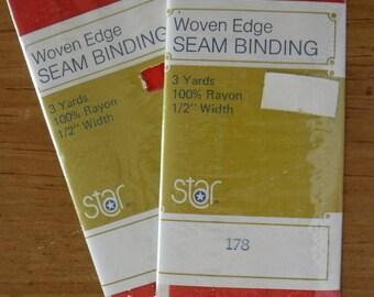 Star Red #178 Woven Edge Seam Binding