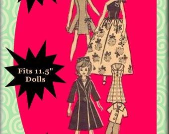 Newspaper Mail Order Pattern #4515 For Vintage Barbie - Doll Clothes