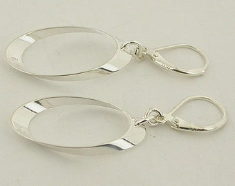 Sterling Silver Earrings Lever Back Earrings 30