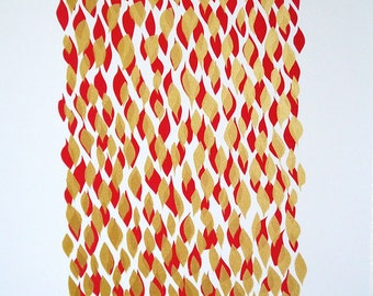 Abstract Gold and Red Silkscreen: The Gratuitously Wealthy