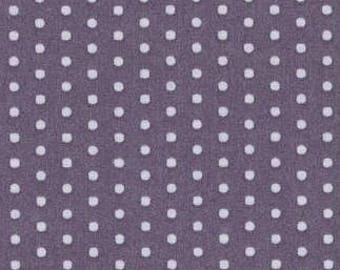 Ruffled purple polka dots fabric