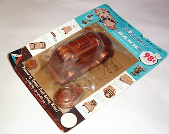 Vintage Wind-Up Armored Car Toy/Bank In Original Packaging NOS ***1960's********