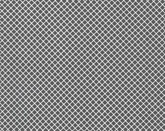 Grey and White Fabric - Remix by Ann Kelle from Robert Kaufman. Charcoal Gray White Diamond. 100% cotton. AAK-15240-12
